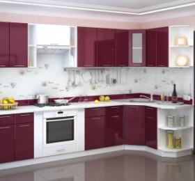 Кухня «Валерия» (цвет: бордо)