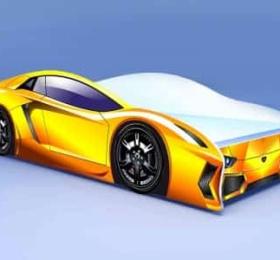 Кровать «Ламборджини Желтая»