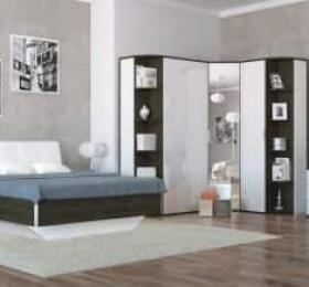 Спальня «Тоскано ясень» темный белый